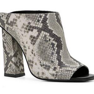 ALDO new snakeskin mules
